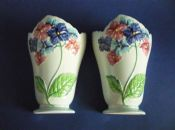 Superb Pair of Carlton Ware Blue 'Hydrangea' Wall Pocket Vases (Sold)